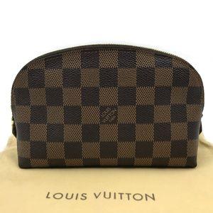 Authentic Louis VuittonDamier Ebene Cosmetic Pouc